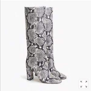 J Crew Tall Faux Snake Boot size 10